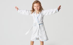 little girl in robe