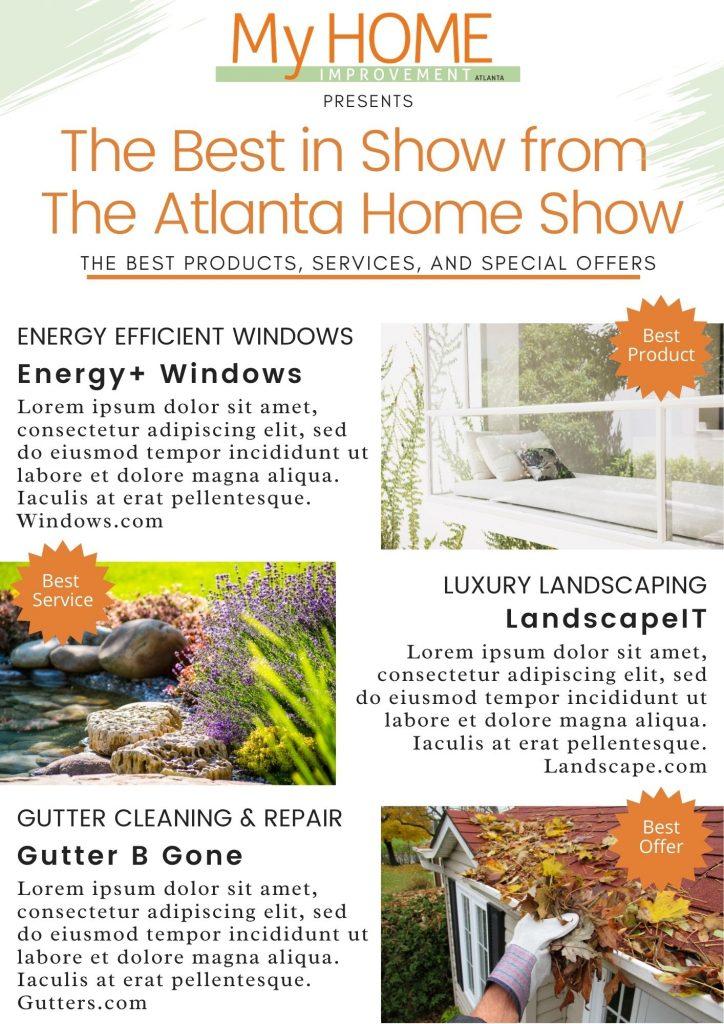 Atlanta Home Show Eblast Example