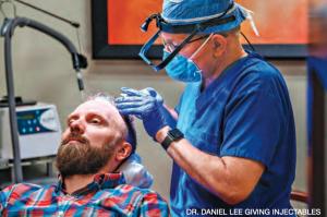 Dr. Daniel Lee doing a procedure