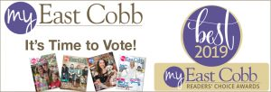 My East Cobb magazine covers and best of 2019 badge