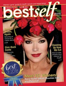 Very attractive woman on the cover of Best Self Atlanta magazine Best of 2018 issue