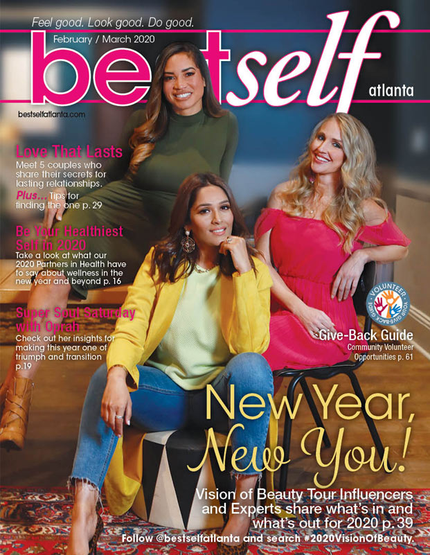 Best Self Atlanta 2020 Beauty Tour Influencers are featured on Best Self 0220 Cover