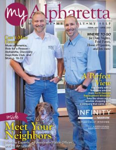 Owners of North Georgia Replacement Windows are featured on My Alpharetta 0220 Cover