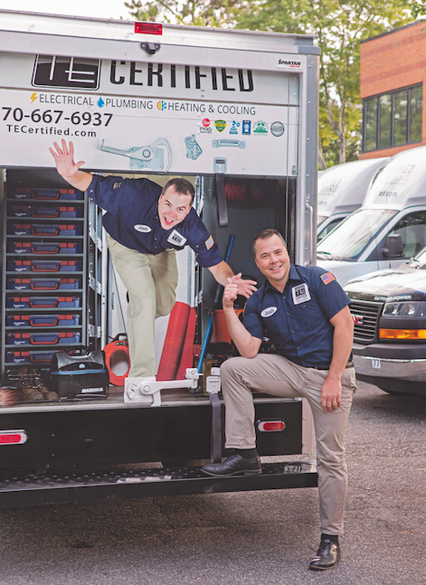 Owner Josh Brooker in front of the TE Electric Truck