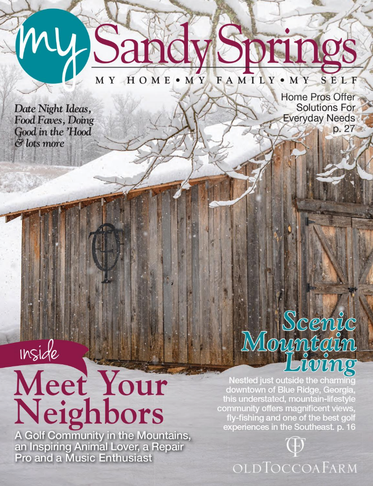 January Sandy Springs Cover with Snowy Barn