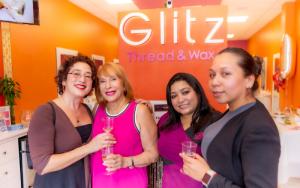 ladies holding champagne