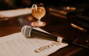 bingo sheet and beer