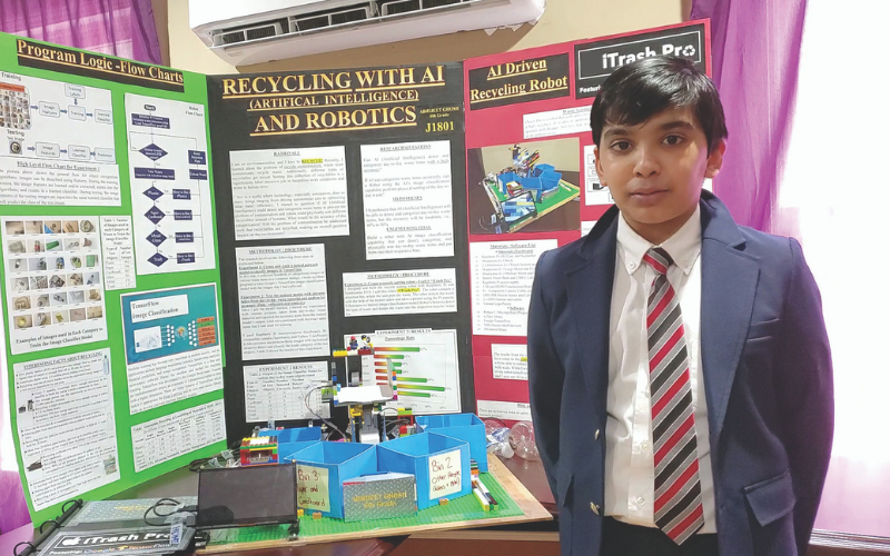 boy and his project