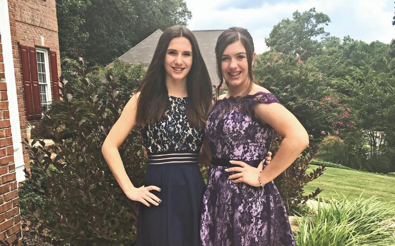 girls in dresses