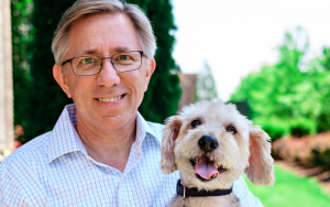 Dr. Lee and his dog Hero